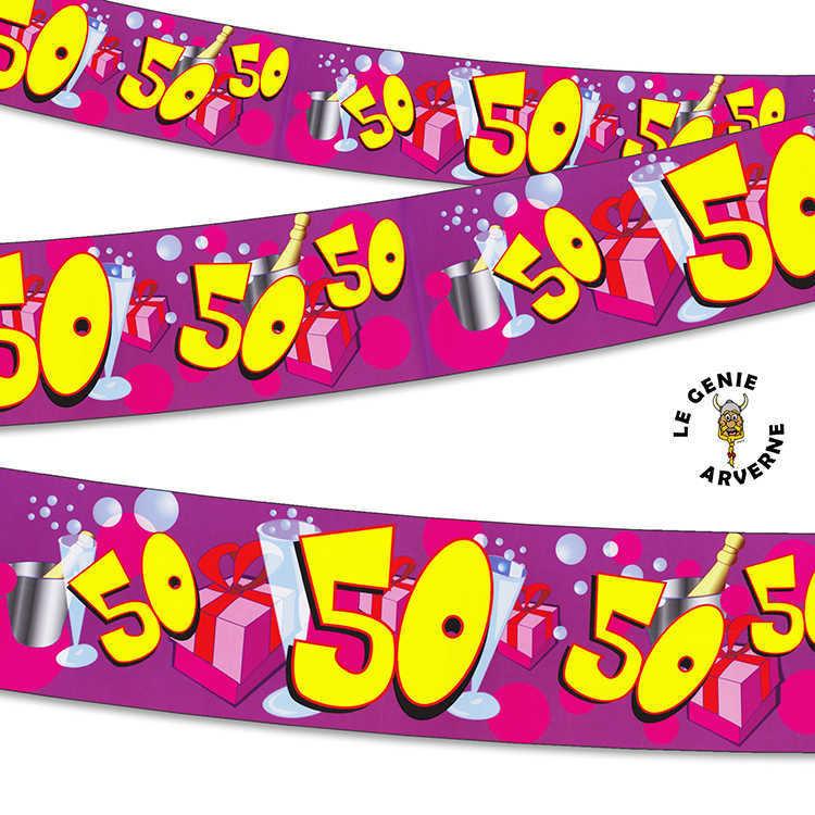 Banni re 50 ans 2 44 m tres for Decoration 50 ans homme