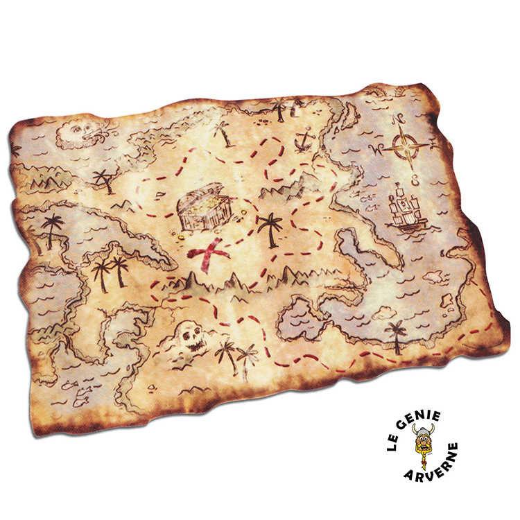 Carte au tr sor 46x30cm - Carte chasse au tresor ...