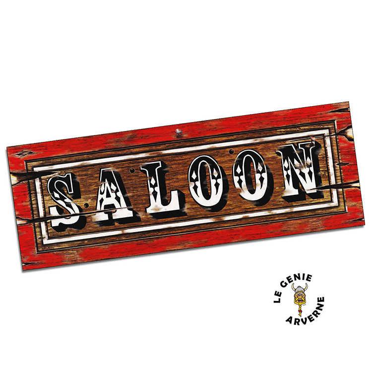 Enseigne saloon for Porte de saloon western