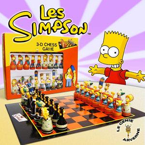 Jeu d 39 echecs simpson luxe - Marge simpson et bart ...