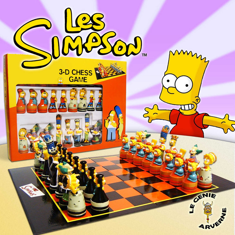 Jeu d 39 echecs simpson luxe - Jeux de lisa simpson ...