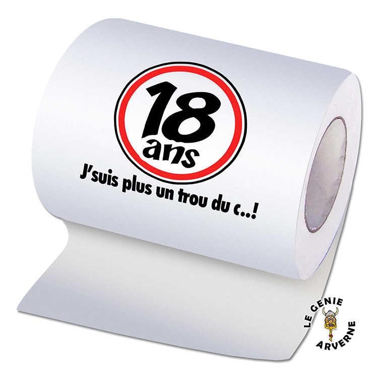 Papier wc anniversaire 18 ans - Rehausseur toilette pour adulte ...
