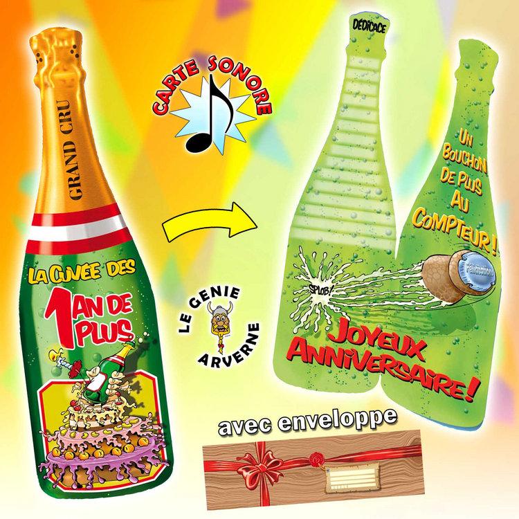 Carte Champagne 1 An De Plus