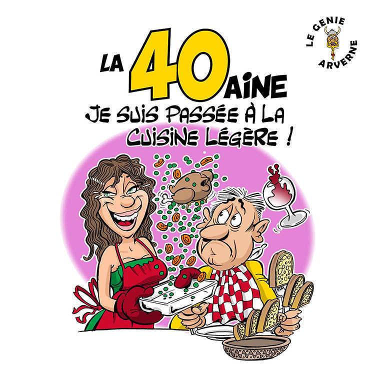 Tablier de cuisine femme 40 aine - Carte anniversaire 40 ans femme a imprimer ...