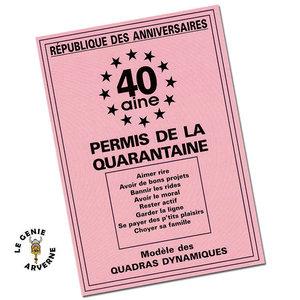 Carte Danniversaire 40 Ans Humour Coleteremelly Official
