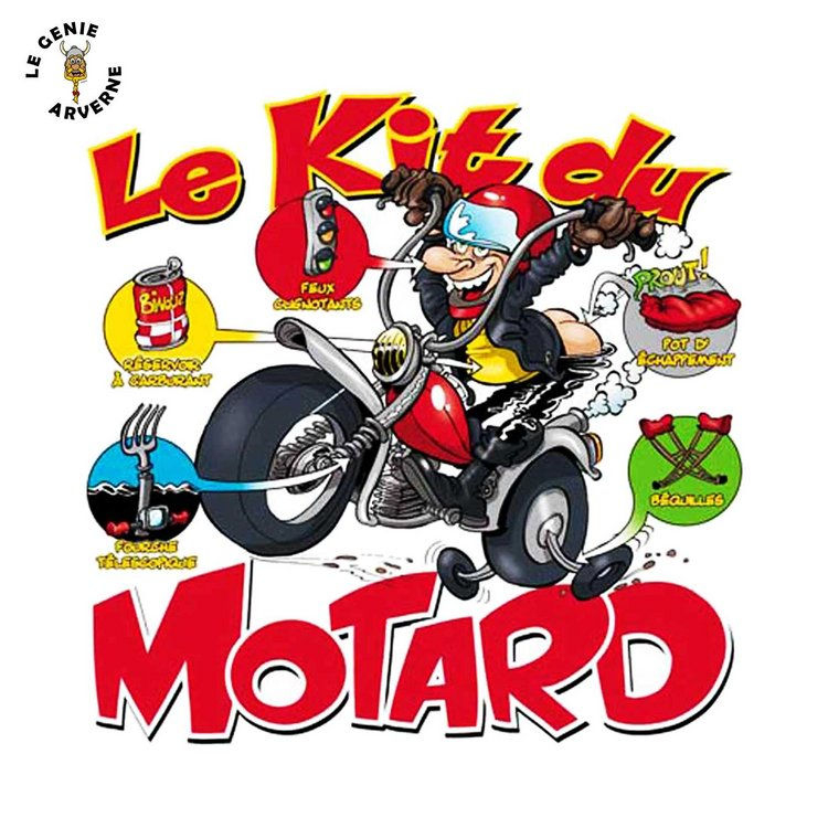 T shirt kit du motard - Dessin humoristique motard ...