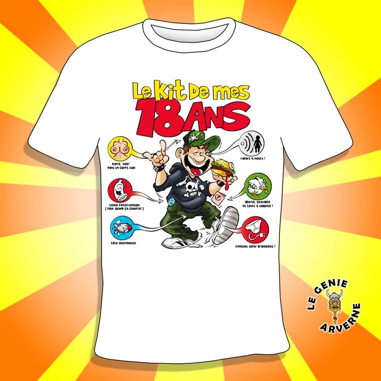 T Shirt Homme Kit 18 Ans