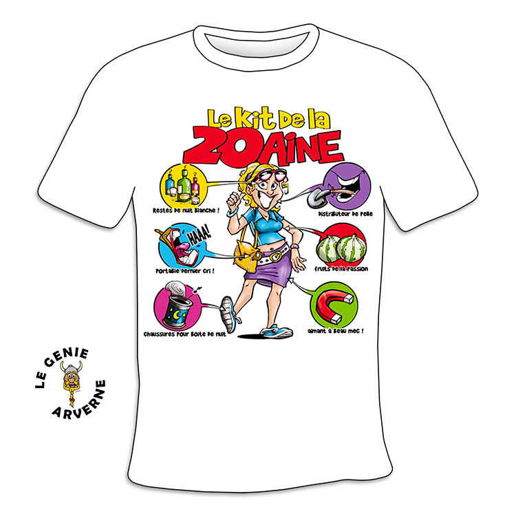 T shirt femme kit 20 aine - Idee cadeau 20 ans fille ...