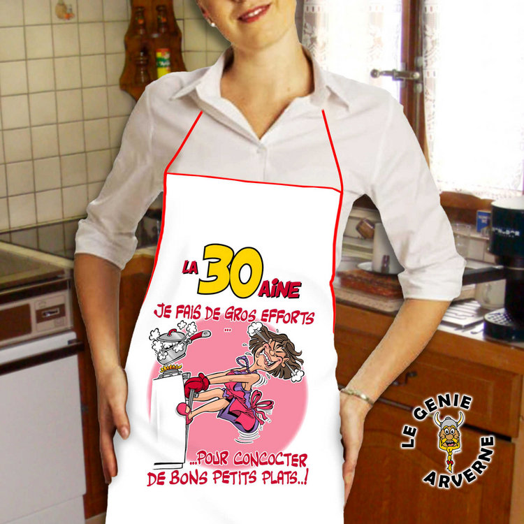 Tablier de cuisine femme 30 aine - Tablier de cuisine rigolo femme ...