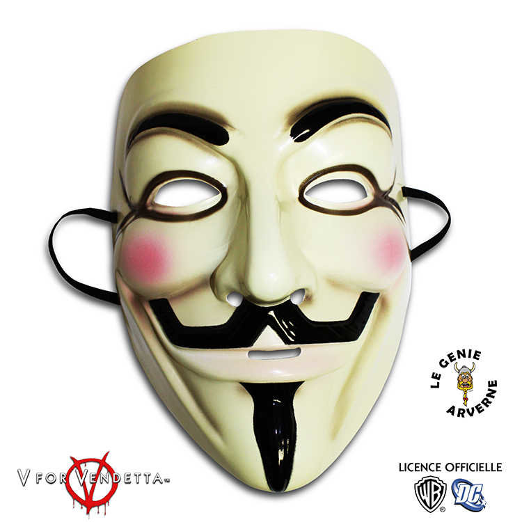masque officiel v pour vendetta anonymous. Black Bedroom Furniture Sets. Home Design Ideas