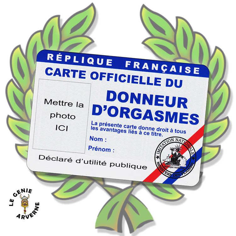 Carte Officielle Donneur D Orgasmes