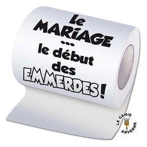 Papier Wc Mariage Debut Des Emmerdes