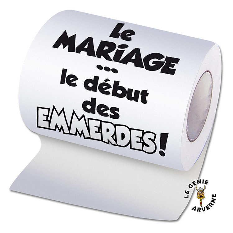Papier wc mariage d but des emmerdes - Papier toilette mariage ...