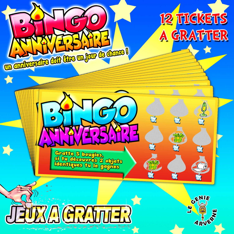 jeu gratter bingo anniversaire. Black Bedroom Furniture Sets. Home Design Ideas