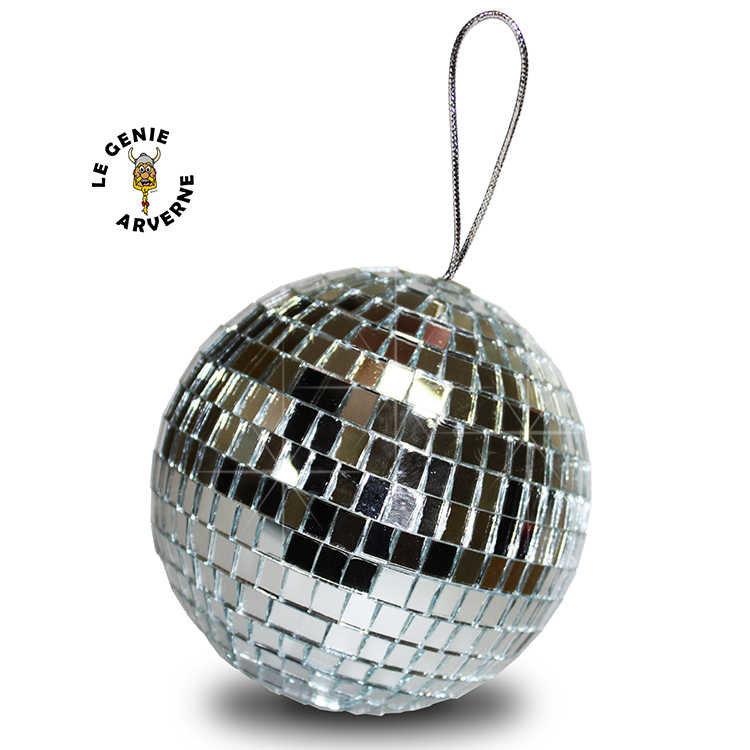 fabulous zoom boule a facettes argent miroirs discotheque pendentif voiture boite de nuit. Black Bedroom Furniture Sets. Home Design Ideas