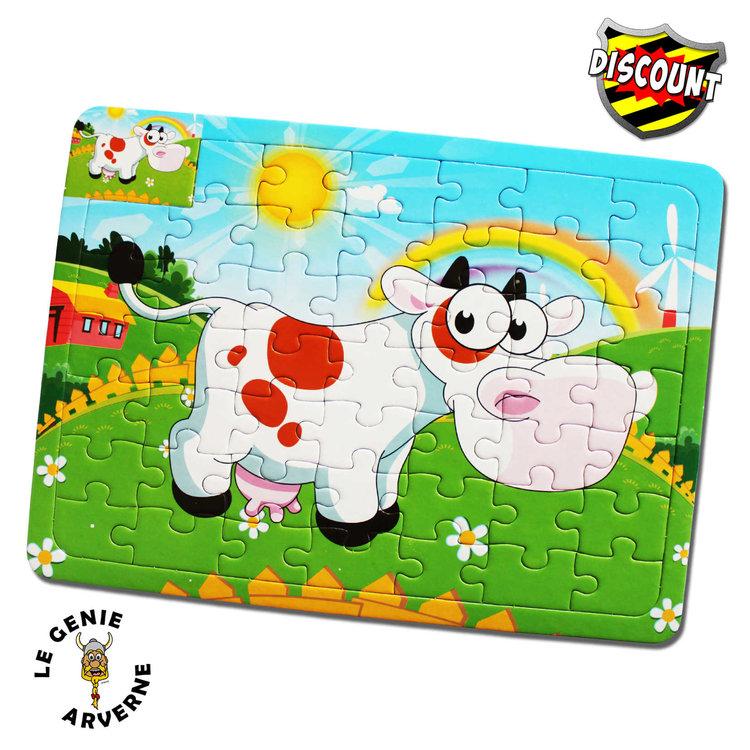 Puzzle coloriage animal 26 cm - Puzzle dessin ...